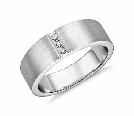 Oliver แหวนเพชรผู้ชาย แหวนแต่งงานผู้ชาย
