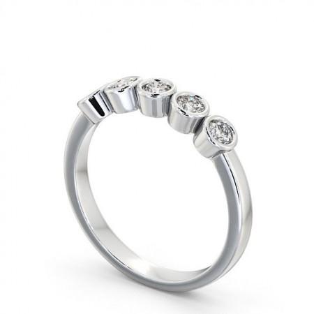 Stephanie แหวนเพชรแถว 5 เม็ด แบบแหวนเพชรสวยๆ