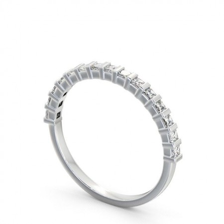 Sloane แหวนเพชรเรียง ล้อมครึ่งวง แบบแหวนเพชรผู้หญิง