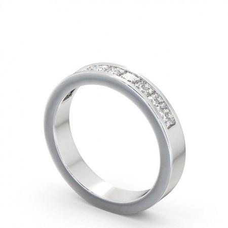 Olive แหวนเพชรเรียง ล้อมครึ่งวง แบบแหวนเพชรผู้หญิง