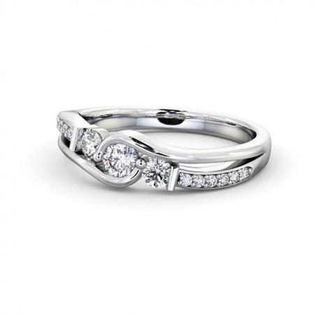 Harley แหวนเพชรแถว 3 เม็ด แบบแหวนเพชรสวยๆ