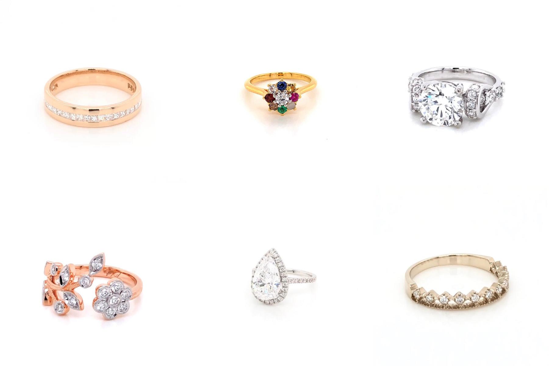 แหวนเพชรสไตล์ต่างๆ