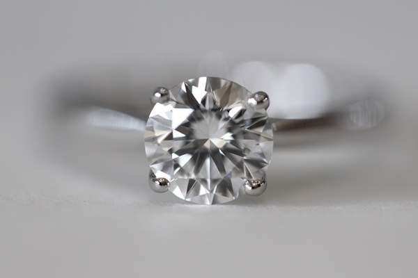 diamond ring on a table
