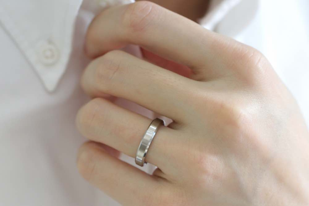 mens plain band ring