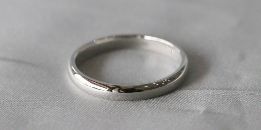 platinum plain band ring